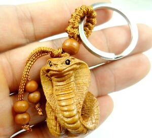 Hand carved snake wooden pendant crafts key chain key ring lover image is loading hand carved snake wooden pendant crafts key chain aloadofball Choice Image