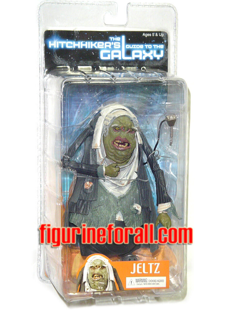 Hitchhiker/'s Guide to the Galaxy SET 4 FIGURES ARTHUR ZAPHOD.....GUIDA GALATTICA