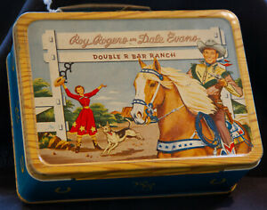 VTG Roy Rogers & Dale Evans Double R Bar Ranch Metal Lunch Box and Thermos