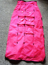 Very unusual Rare Cyber Dog pink uv fluorescent f/l skirt Rave Party Small
