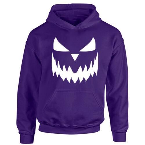 Kids Halloween Pumpkin Face Hoodie Boys /& Girls Scary Trick or Treat Costume