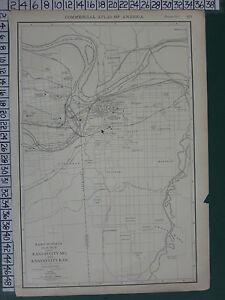 Map Of America Kansas City.1922 Large America Map Kansas City Plan Environs Park Schools Rand