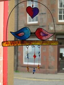 WHOLESALE-JOB-LOT-LOVE-BIRDS-IN-A-CAGE-SUN-CATCHER-WALL-OR-WINDOW-HANGING-MOBILE