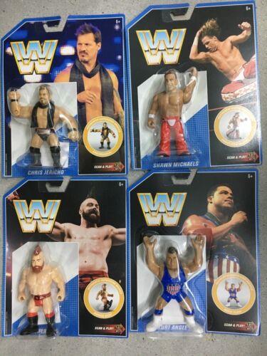 WWE Mattel COMPLETE SET Retro Figure Series 7 Michaels//Angle//Sheamus//Jericho