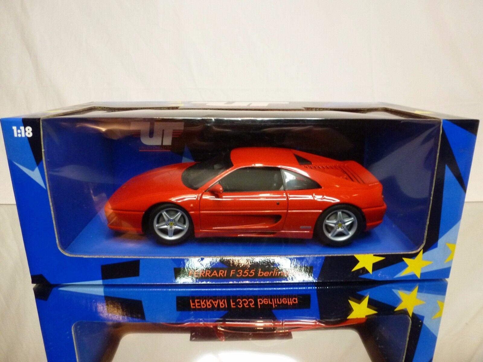 UT MODELS 74020 FERRARI F355 BERLINETTA - RED RED RED 1 18 - EXCELLENT CONDITION IN BOX 51fce4