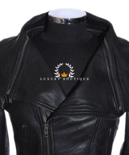 Anita Black Ladies New Retro Designer Real Soft Lambskin Leather Fashion Jacket