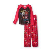 Monster High 2 Pc Long Sleeve Pajama Set Girl Size 10/12