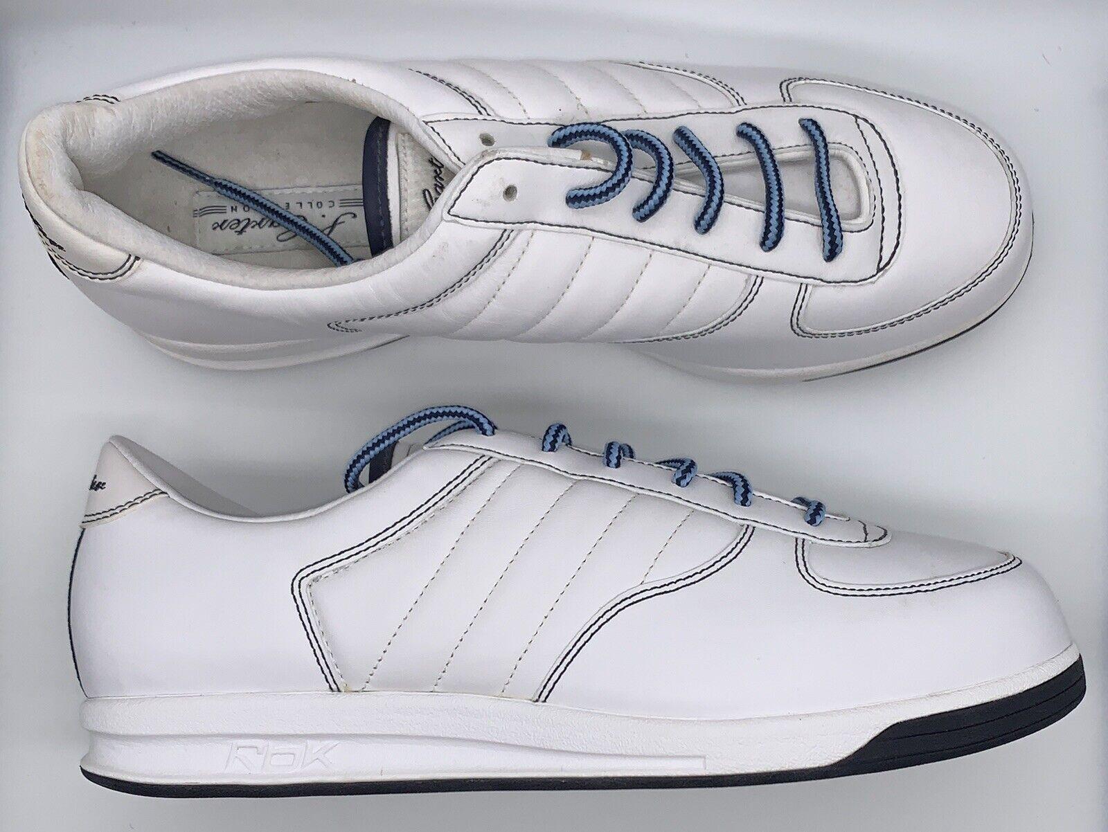 REEBOK RBK S. voitureTER Collection JAY Z Tennis Chaussures Blanc Bleu Etats-Unis Homme Taille 10.5 3