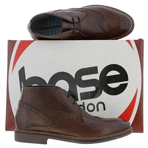 Base London Trick Mens Brown Brogues Desert Chukka Ankle Boots Size 6-12