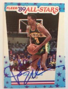 Dale Ellis 1989 Fleer Hand Signed Card Seattle SuperSonics