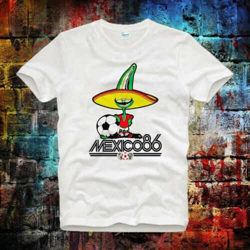 Mexico 86 Football World cup Mascot Logo Unisex Tee Top ideal gift  T Shirt B710