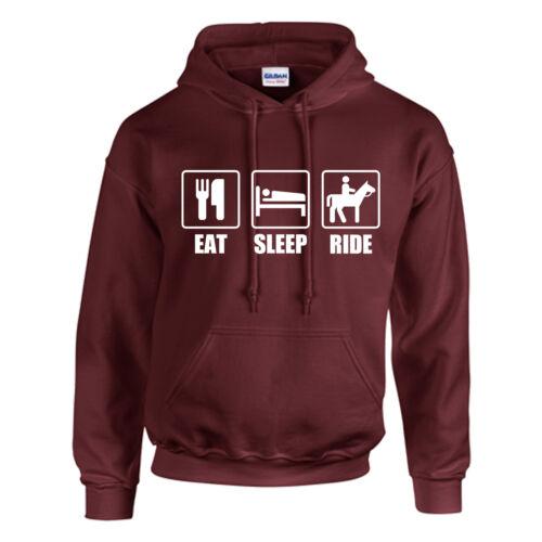 Kinder Personalisiert Essen,Schlaf,Reite Kapuzenpullover Erwachsene Pferd