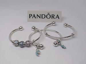 Image Is Loading New Pandora Adjule Silver Open Bangle Bracelet W