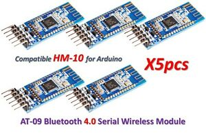 5pcs-AT-09-Bluetooth-4-0-Modulo-Transceptor-BLE-CC2540-CC2541-HM-10-MLT-BT05