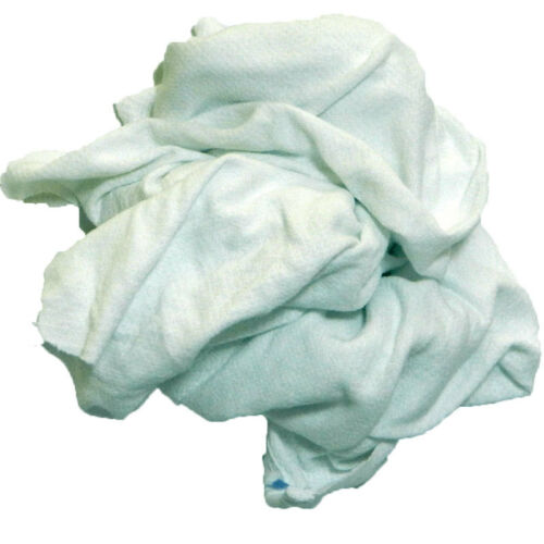 White Knit T-Shirt Rags 50LB Box