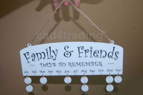 Family Birthday Engraved Acrylic Hanging Disc calendar reminder friends plaque