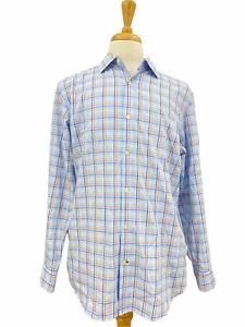 Banana Republic Men's Button Up Shirt Multicolor Plaid Non Iron Slim Fit Large