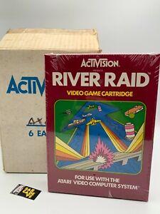 FACTORY-SEALED-BOX-OF-6-River-Raid-Atari-2600-VERY-RARE-NEW-NTSC