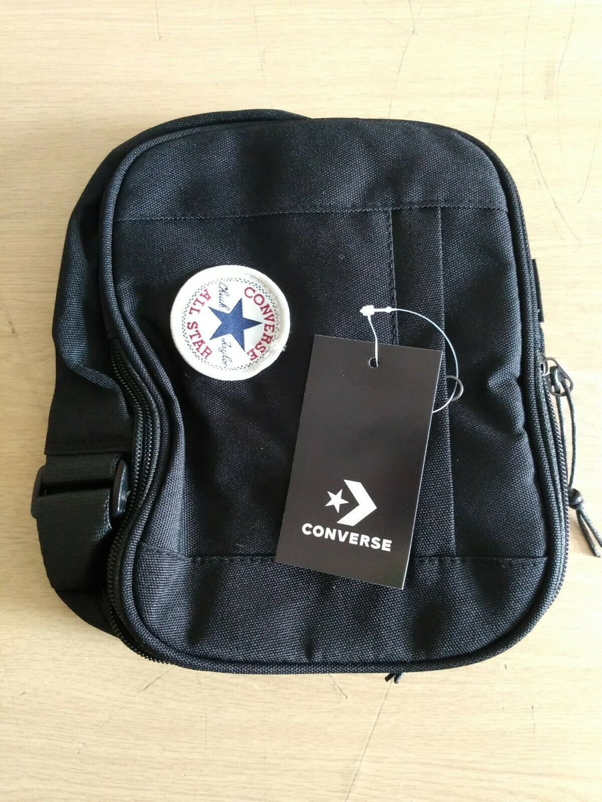Black Converse All Star Poly Crossbody Shoulder Man Small Bag