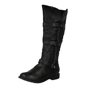 Coco-L9339-Mujer-Negro-Largo-Botas-con-Piel-Sintetica-34A-Kett