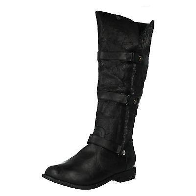 Coco L9r339 Femme Long Bottes Noires avec Fausse Fourrure (R34a) | eBay
