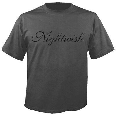 Gerade Nightwish - Logo Grey T-shirt BüGeln Nicht