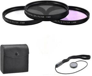 Zeikos-3-Piece-Ultra-Slim-Pro-Glass-Filter-Kit-72mm-UV-CPL-FL-D-Kit-with-CASE