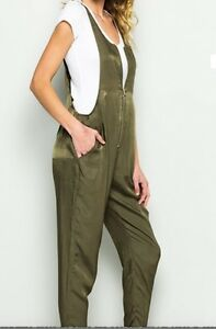 Jumpsuit Khaki Khaki Jumpsuit Zipper With With qtYvtZ