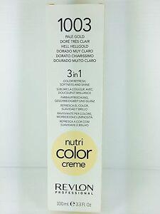 REVLON PROFESSIONAL NUTRI COLOR CREME PALE GOLD 100ML TUBE (1003 ...