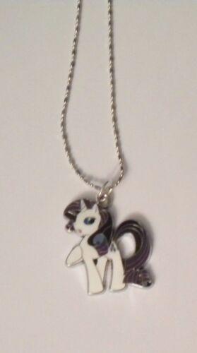 New Girl/'s//Damas PONY plata esterlina 925 MY LITTLE Esmalte Colgante Collar