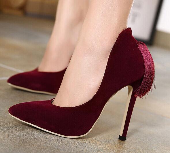 Décollte Zapatos zapatos zapatos zapatos de salón mujer talón perno 11 cm tacón de aguja  lo último