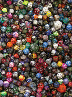Chessex 30 Lbs 30 Pounds Of Dice (approx 2,500-3,000 Dice) Assorted Gaming Ad&d