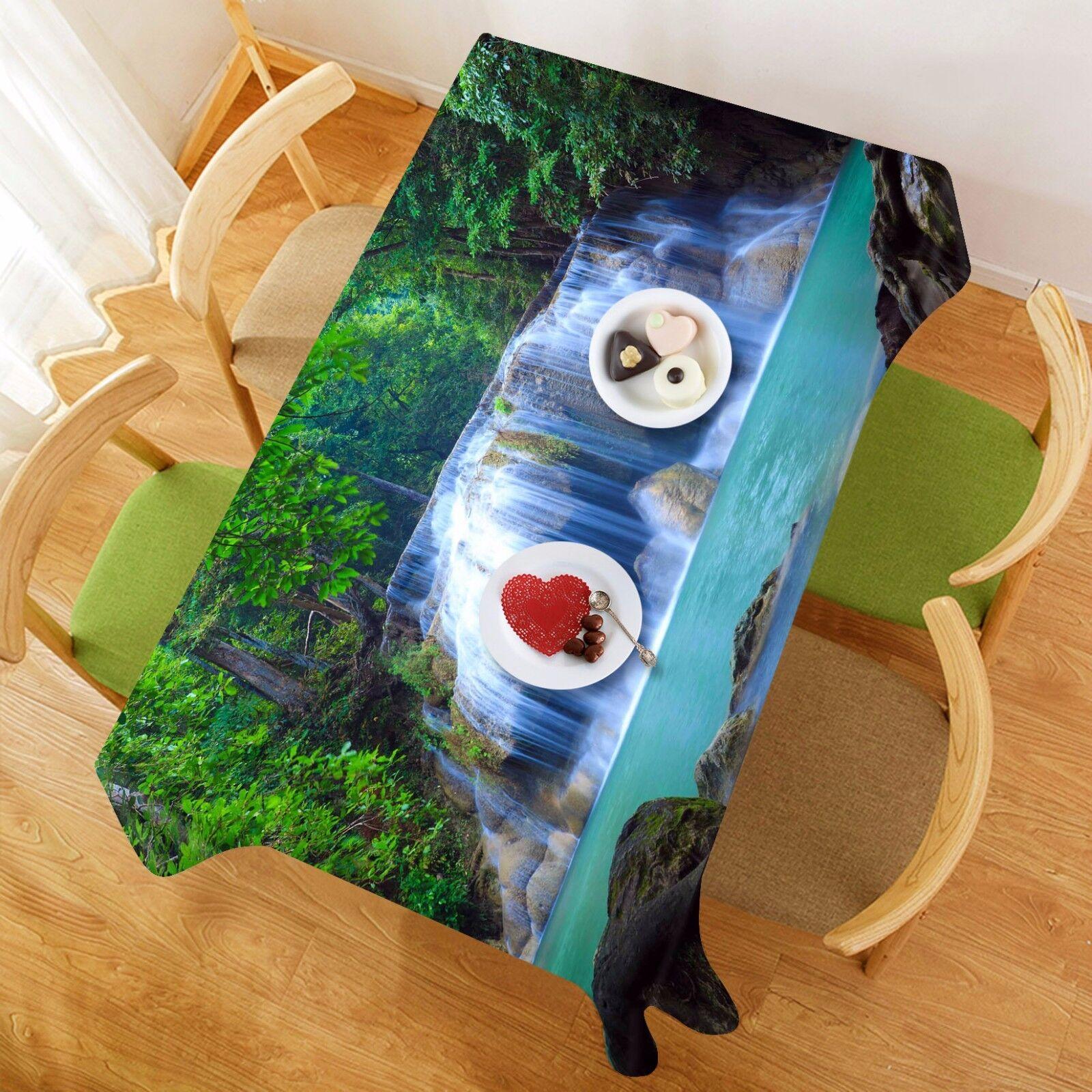 Flux 3D 67 Nappe Table Cover Cloth fête d'anniversaire AJ papier peint Royaume-Uni Citron