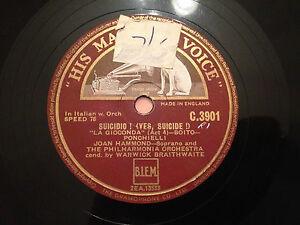 JOAN-HAMMOND-Soprano-Suicidio-Troppo-Signori-12-Disc-78rpm-1949-EXC