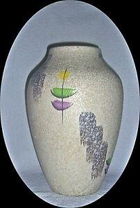 Vase-Fat-Lava-West-Germany-german-pottery-50er-60er-Jahre-31cm