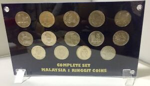 Complete-Set-Of-14-Pcs-Malaysia-One-Dollars-Coin
