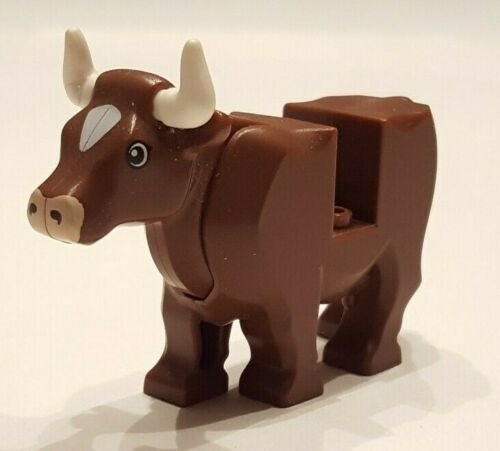 Excellent Condition LEGO Cow w// Pink Muzzle and Horns 64452pb01