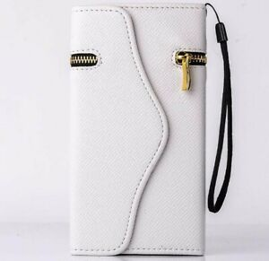 iPhone-6-6s-plus-Luxury-Wallet-PU-Leather-Case-Zipper-Card-Holder-Cover-WHITE