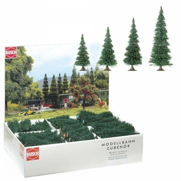 Arbres Trees Pini 130 Pieces Assortiment H0 Scale 1 87 Diorama Model BUSCH
