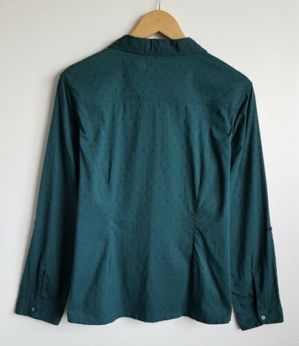 Blouse Shirt Green Carrickowel Seasalt 16 Ladies Size Cotton wqBXII4xv