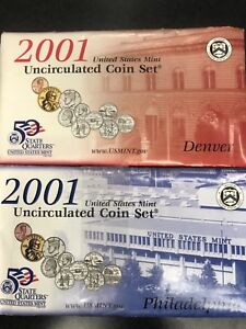 2001 Denver UNITED STATES MINT UNCIRCULATED COIN SET W//STATE QUARTERS