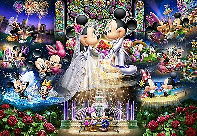 Jigsaw Puzzle Disney Princess collection Stained Art 1000 Japan Tenyo DS1000-776