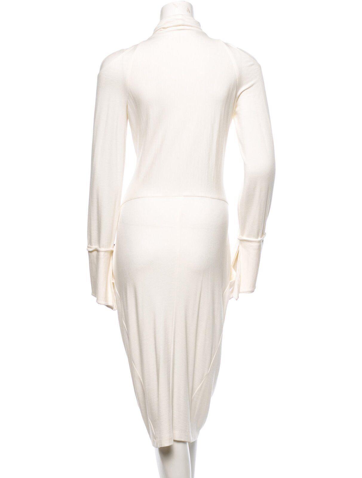 SPECTACULAR NWT  2,695 women KARAN KARAN KARAN IVORY COLD SHOULDER DRESS 6f1338