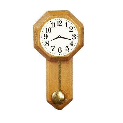 WALNUT SMALL REGULATOR CLOCK DOLL HOUSE  MINIATURE