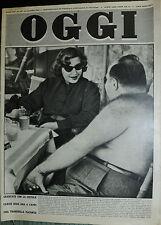 OGGI N°33 /14/ AGO/1952 * SBARCATO CON LA PISTOLA FARUK GODE ORA A CAPRI. . .