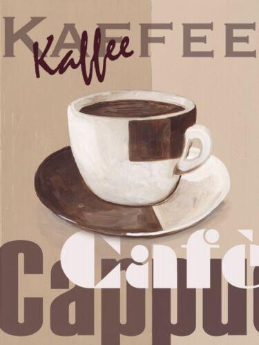 Poster oder Leinwand Bild A.S Ernährung Getränke Kaffee Malerei Creme A2HF