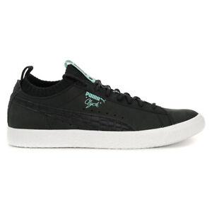 PUMA Men's Clyde Sock Lo Diamond Puma Black/Black Shoes 36565301 NEW!