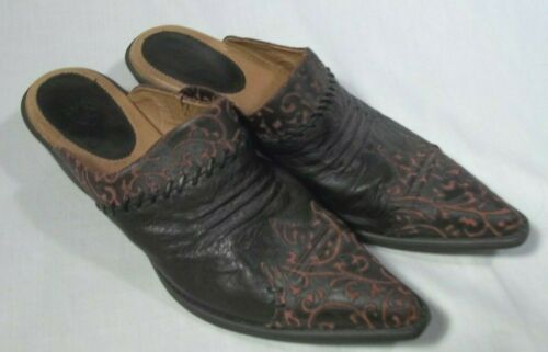 Ariat Black Red Cowboy Boot Mules Clogs Relief Flo