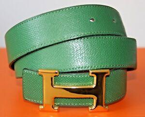 Genieße den reduzierten Preis Spielraum gute Textur Details zu HERMÈS GÜRTEL MIT GOLDENER HERMES SCHNALLE - Größe: 75 - 100%  ORIGINALWARE