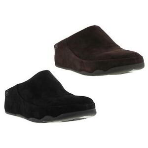 b9d0d71be33d60 Image is loading Fitflop-Gogh-Moc-Womens-Black-Suede-Leather-Clogs-